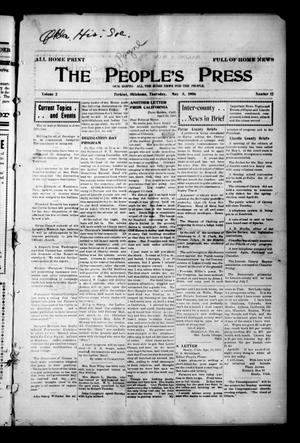 Primary view of object titled 'The People's Press (Perkins, Okla.), Vol. 2, No. 12, Ed. 1 Thursday, May 3, 1906'.