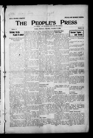Primary view of object titled 'The People's Press (Perkins, Okla.), Vol. 2, No. 40, Ed. 1 Thursday, November 15, 1906'.