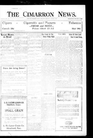 Primary view of object titled 'The Cimarron News. (Boise City, Okla.), Vol. 23, No. 19, Ed. 1 Thursday, January 13, 1921'.