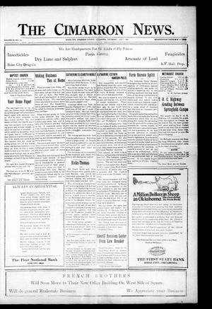 Primary view of object titled 'The Cimarron News. (Boise City, Okla.), Vol. 23, No. 49, Ed. 1 Thursday, July 7, 1921'.