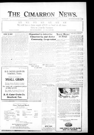 Primary view of object titled 'The Cimarron News. (Boise City, Okla.), Vol. 23, No. 33, Ed. 1 Thursday, March 17, 1921'.