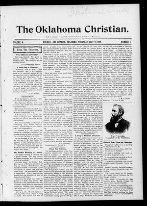 Primary view of object titled 'The Oklahoma Christian. (Mulhall and Guthrie, Okla.), Vol. 6, No. 6, Ed. 1 Thursday, July 11, 1901'.