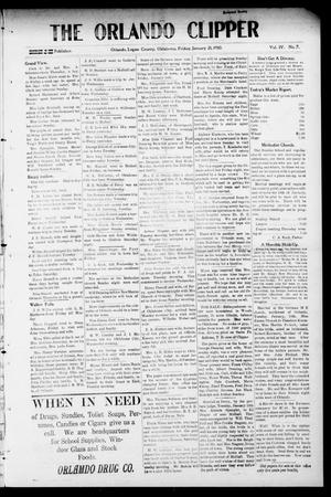 Primary view of object titled 'The Orlando Clipper (Orlando, Okla.), Vol. 4, No. 7, Ed. 1 Friday, January 21, 1910'.