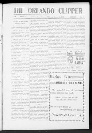 Primary view of object titled 'The Orlando Clipper. (Orlando, Okla.), Vol. 1, No. 9, Ed. 1 Friday, January 18, 1907'.