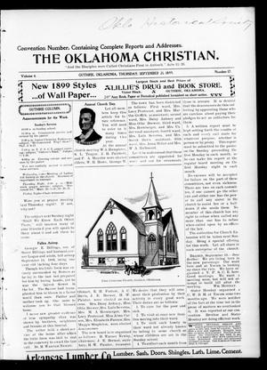 Primary view of object titled 'The Oklahoma Christian. (Guthrie, Okla.), Vol. 4, No. 17, Ed. 1 Thursday, September 21, 1899'.