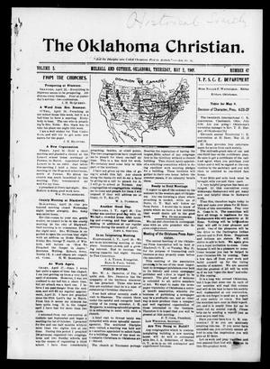 Primary view of object titled 'The Oklahoma Christian. (Mulhall and Guthrie, Okla.), Vol. 5, No. 47, Ed. 1 Thursday, May 2, 1901'.