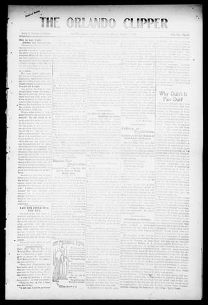 Primary view of object titled 'The Orlando Clipper (Orlando, Okla.), Vol. 4, No. 45, Ed. 1 Friday, October 7, 1910'.