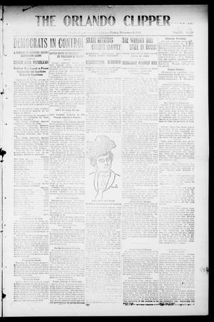 Primary view of object titled 'The Orlando Clipper (Orlando, Okla.), Vol. 4, No. 50, Ed. 1 Friday, November 11, 1910'.