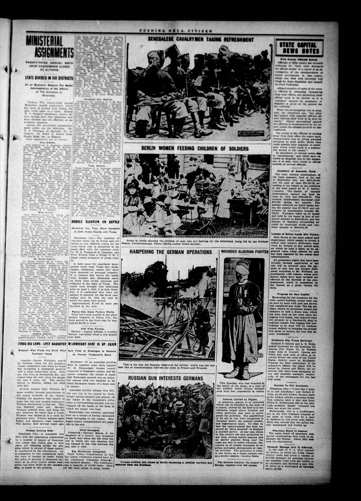 The Cushing Citizen (Cushing, Okla.), Vol. 7, No. 21, Ed. 1 Thursday, October 22, 1914                                                                                                      [Sequence #]: 3 of 8