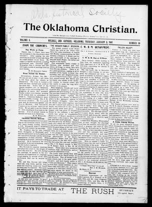 Primary view of object titled 'The Oklahoma Christian. (Mulhall and Guthrie, Okla.), Vol. 5, No. 30, Ed. 1 Thursday, January 3, 1901'.