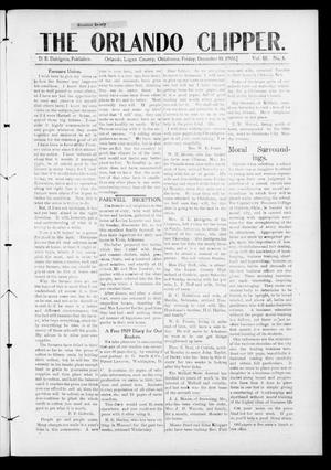Primary view of object titled 'The Orlando Clipper. (Orlando, Okla.), Vol. 3, No. 4, Ed. 1 Friday, December 18, 1908'.