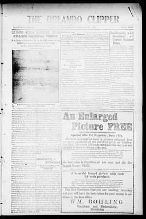 Primary view of object titled 'The Orlando Clipper (Orlando, Okla.), Vol. 5, No. 29, Ed. 1 Friday, June 16, 1911'.