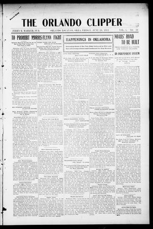 Primary view of object titled 'The Orlando Clipper (Orlando, Okla.), Vol. 5, No. 30, Ed. 1 Friday, June 23, 1911'.