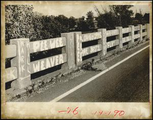 Primary view of object titled 'Frisco Railroad overpass bridge, Luther, Oklahoma'.