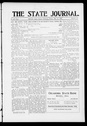 Primary view of object titled 'The State Journal. (Mulhall, Okla.), Vol. 7, No. 24, Ed. 1 Friday, May 21, 1909'.