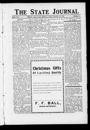 Primary view of object titled 'The State Journal (Mulhall, Okla.), Vol. 8, No. 3, Ed. 1 Friday, December 24, 1909'.