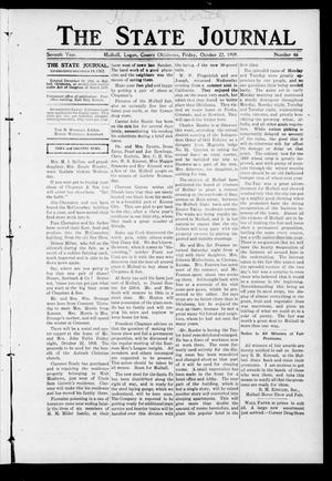 Primary view of object titled 'The State Journal (Mulhall, Okla.), Vol. 7, No. 46, Ed. 1 Friday, October 22, 1909'.