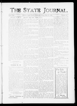 Primary view of object titled 'The State Journal. (Mulhall, Okla.), Vol. 6, No. 24, Ed. 1 Friday, May 22, 1908'.