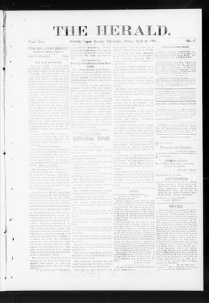 Primary view of object titled 'The Herald. (Orlando, Okla.), Vol. 10, No. 47, Ed. 1 Friday, April 26, 1901'.