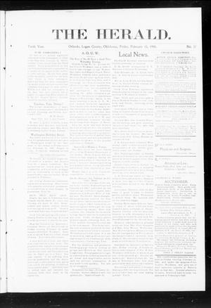 Primary view of object titled 'The Herald. (Orlando, Okla.), Vol. 10, No. 37, Ed. 1 Friday, February 15, 1901'.