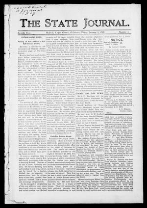 Primary view of object titled 'The State Journal. (Mulhall, Okla.), Vol. 7, No. 4, Ed. 1 Friday, January 1, 1909'.