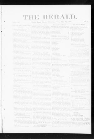 Primary view of object titled 'The Herald. (Orlando, Okla.), Vol. 10, No. 49, Ed. 1 Friday, May 10, 1901'.
