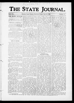 Primary view of object titled 'The State Journal. (Mulhall, Okla.), Vol. 6, No. 27, Ed. 1 Friday, June 12, 1908'.