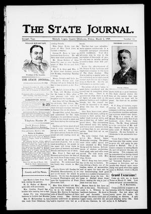 Primary view of object titled 'The State Journal. (Mulhall, Okla.), Vol. 7, No. 13, Ed. 1 Friday, March 5, 1909'.