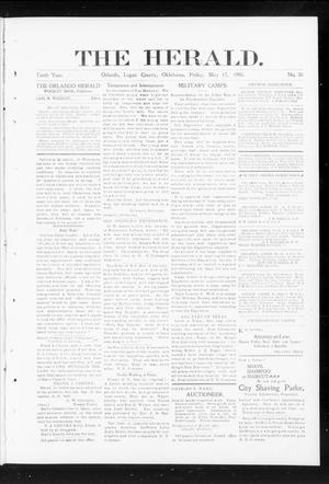 Primary view of object titled 'The Herald. (Orlando, Okla.), Vol. 10, No. 50, Ed. 1 Friday, May 17, 1901'.