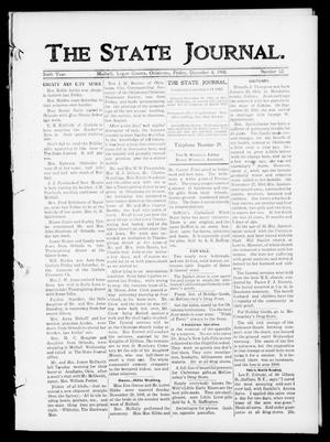 Primary view of object titled 'The State Journal. (Mulhall, Okla.), Vol. 6, No. 52, Ed. 1 Friday, December 4, 1908'.