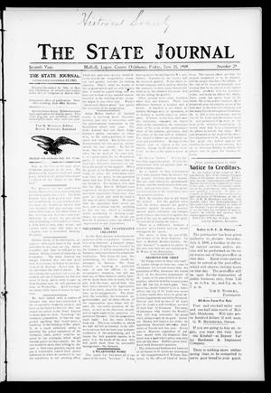 Primary view of object titled 'The State Journal (Mulhall, Okla.), Vol. 7, No. 29, Ed. 1 Friday, June 25, 1909'.