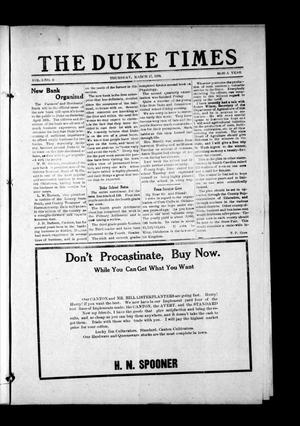 Primary view of object titled 'The Duke Times (Duke, Okla.), Vol. 3, No. 3, Ed. 1 Thursday, March 17, 1910'.