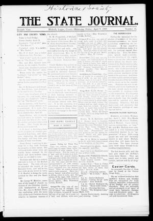 Primary view of object titled 'The State Journal. (Mulhall, Okla.), Vol. 7, No. 18, Ed. 1 Friday, April 9, 1909'.