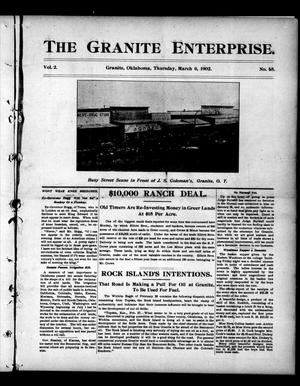 Primary view of object titled 'The Granite Enterprise. (Granite, Okla.), Vol. 2, No. 45, Ed. 1 Thursday, March 6, 1902'.