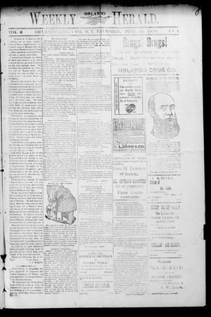 Primary view of object titled 'Weekly Orlando Herald. (Orlando, Okla. Terr.), Vol. 6, No. 2, Ed. 1 Thursday, June 24, 1897'.