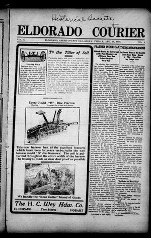 Primary view of object titled 'Eldorado Courier (Eldorado, Okla.), Vol. 6, No. 3, Ed. 1 Friday, August 16, 1907'.