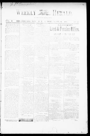 Primary view of object titled 'Weekly Orlando Herald. (Orlando, Okla. Terr.), Vol. 3, No. 25, Ed. 1 Saturday, December 8, 1894'.