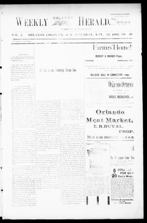 Primary view of object titled 'Weekly Orlando Herald. (Orlando, Okla. Terr.), Vol. 2, No. 49, Ed. 1 Saturday, May 26, 1894'.