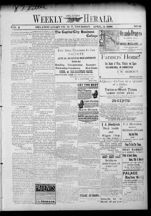 Primary view of object titled 'Weekly Orlando Herald. (Orlando, Okla. Terr.), Vol. 4, No. 44, Ed. 1 Thursday, April 9, 1896'.