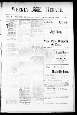 Primary view of object titled 'Weekly Orlando Herald. (Orlando, Okla. Terr.), Vol. 3, No. 28, Ed. 1 Saturday, December 29, 1894'.