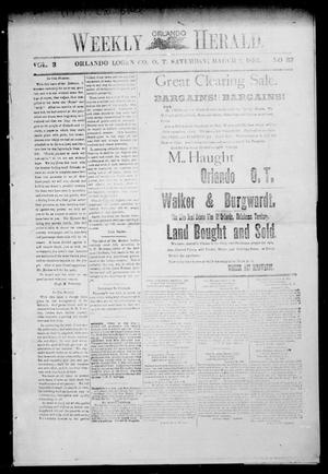 Primary view of object titled 'Weekly Orlando Herald. (Orlando, Okla. Terr.), Vol. 3, No. 37, Ed. 1 Saturday, March 2, 1895'.