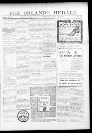 Primary view of object titled 'The Orlando Herald. (Orlando, Okla. Terr.), Vol. 8, No. 45, Ed. 1 Friday, April 13, 1900'.