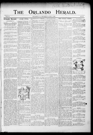 Primary view of object titled 'The Orlando Herald. (Orlando, Okla. Terr.), Vol. 6, No. 52, Ed. 1 Thursday, June 9, 1898'.