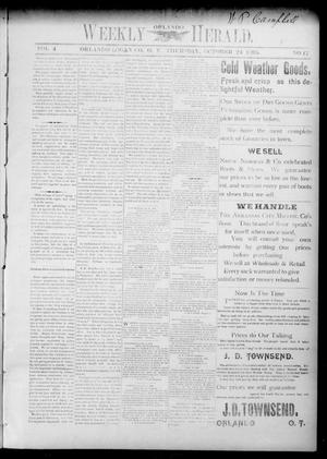 Primary view of object titled 'Weekly Orlando Herald. (Orlando, Okla. Terr.), Vol. 4, No. 17, Ed. 1 Thursday, October 24, 1895'.
