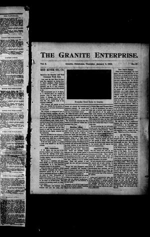 Primary view of object titled 'The Granite Enterprise. (Granite, Okla.), Vol. 2, No. 37, Ed. 1 Thursday, January 9, 1902'.
