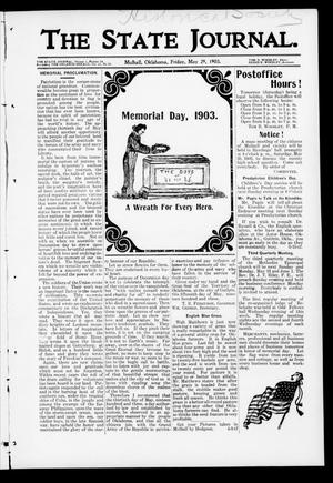 Primary view of object titled 'The State Journal. (Mulhall, Okla.), Vol. 1, No. 24, Ed. 1 Friday, May 29, 1903'.