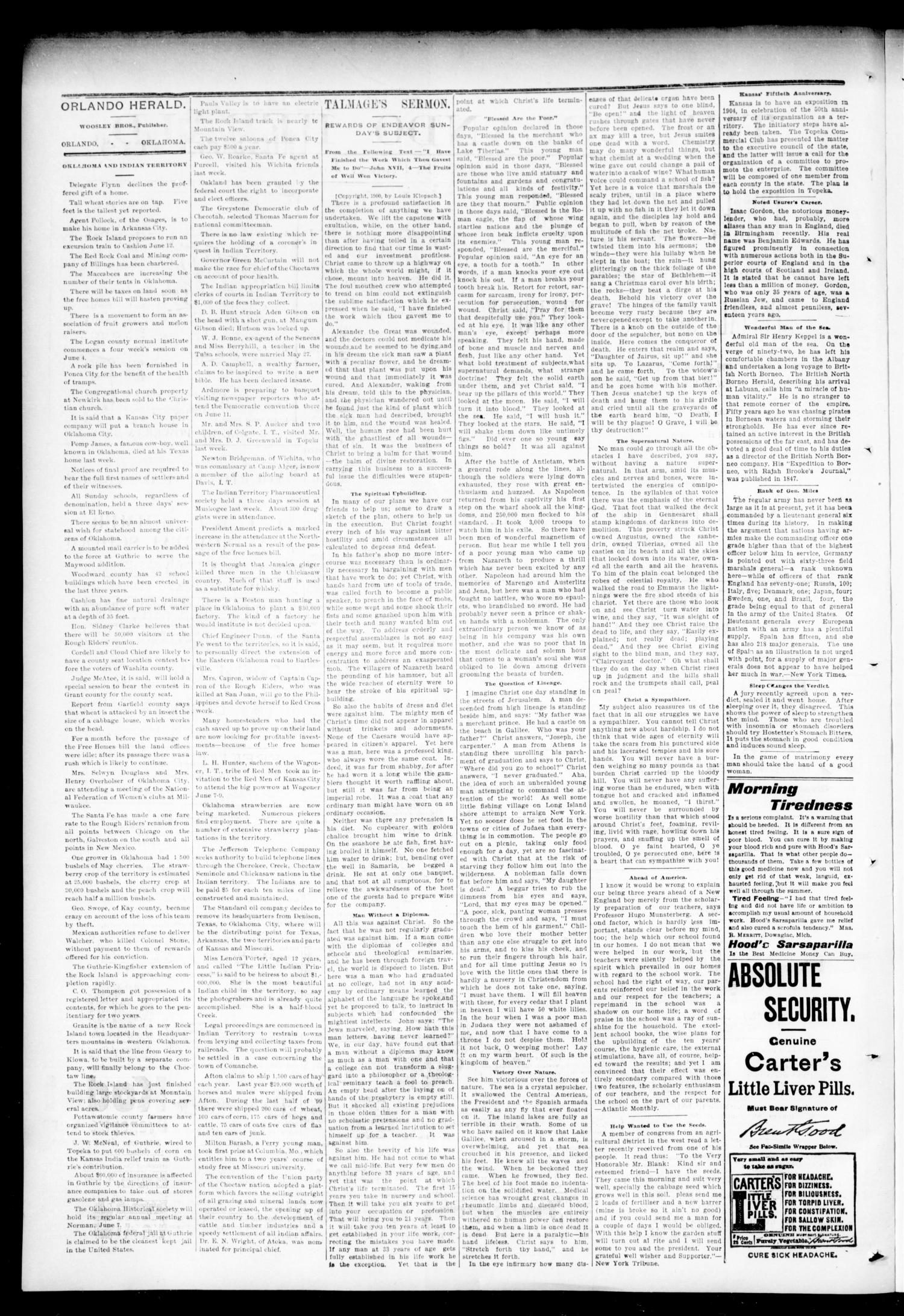 The Orlando Herald. (Orlando, Okla. Terr.), Vol. 9, No. 52, Ed. 1 Friday, June 1, 1900                                                                                                      [Sequence #]: 2 of 4