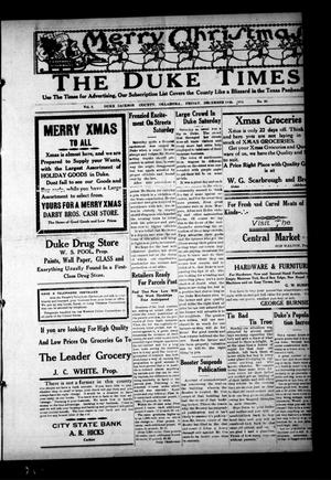 Primary view of object titled 'The Duke Times (Duke, Okla.), Vol. 5, No. 25, Ed. 1 Friday, December 13, 1912'.