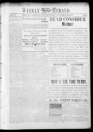 Primary view of object titled 'Weekly Orlando Herald. (Orlando, Okla. Terr.), Vol. 4, No. 28, Ed. 1 Thursday, December 26, 1895'.
