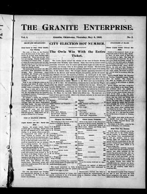 Primary view of object titled 'The Granite Enterprise. (Granite, Okla.), Vol. 3, No. 2, Ed. 1 Thursday, May 8, 1902'.